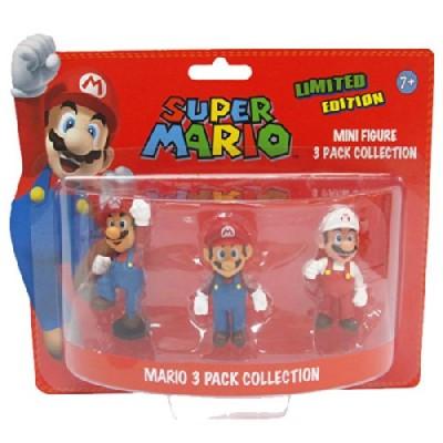 Action Figure Super Mario Bros, 3 modellini da collezione