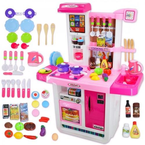 deAO My Little Chef Cucina Playset con Suoni, Pannello Touchscreen e Caratteristiche dAcqua - Più di 40 Accessori Inclusi  R