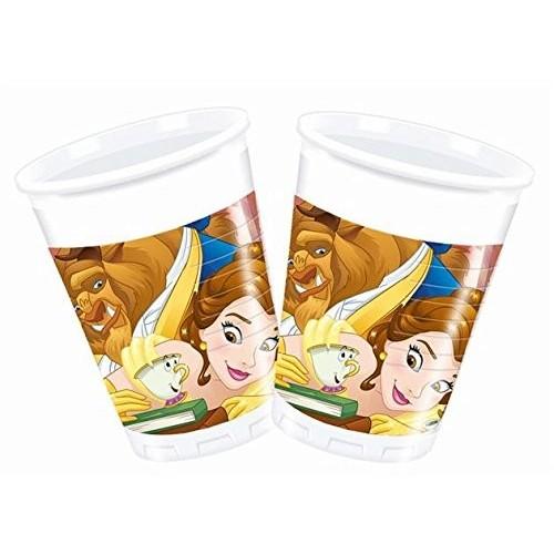 8 bicchieri La Bella e la Bestia