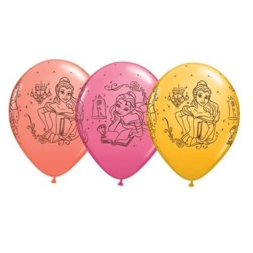 5 Palloncini in lattice Principessa Belle - Disney