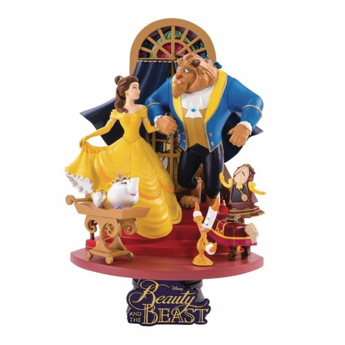 Beast Kingdom- Disney Diorama La Bella e La Bestia, Multicolore  BKDDS-011