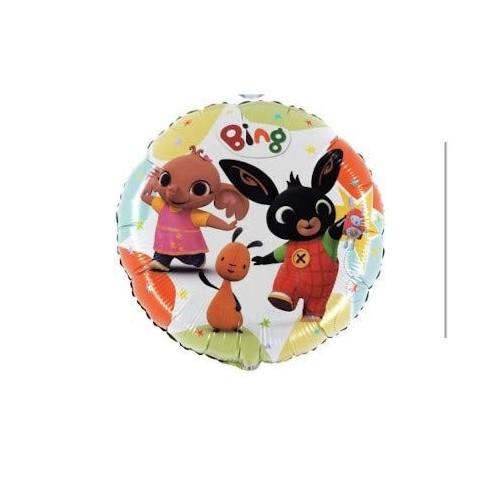 """Anagram- Pallone Foil 18""""""""-45 cm Bing & Friends-Non CONFEZIONATO, Multicolore, 7AL18033"""