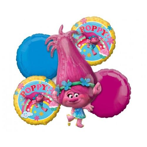 Composizione palloncini Trolls - Disney