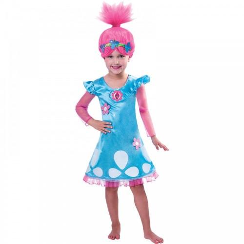 Costume Trolls principessa Poppy per bambine
