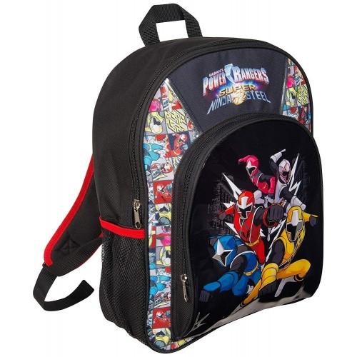 Power Rangers Super Ninja Steel Zaino 3D Scuola Bambino Ninja Zaini Prima Elementare Cartella Scolastica