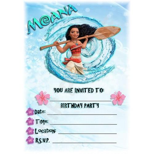 Inviti Compleanno Oceania Disney