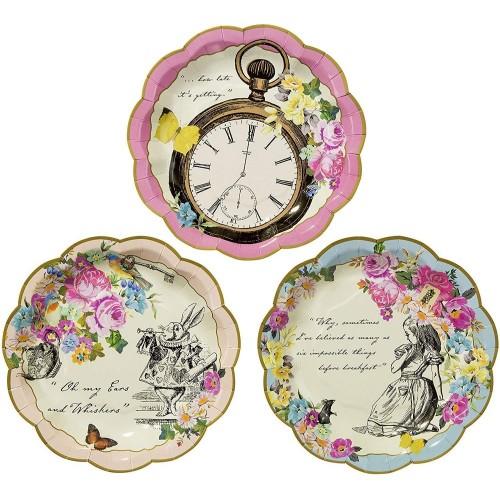 12 piatti Alice in Wonderland