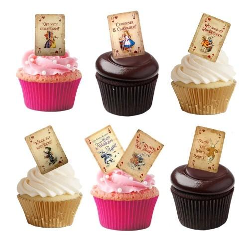 Cake topper Carte da gioco Alice in Wonderland