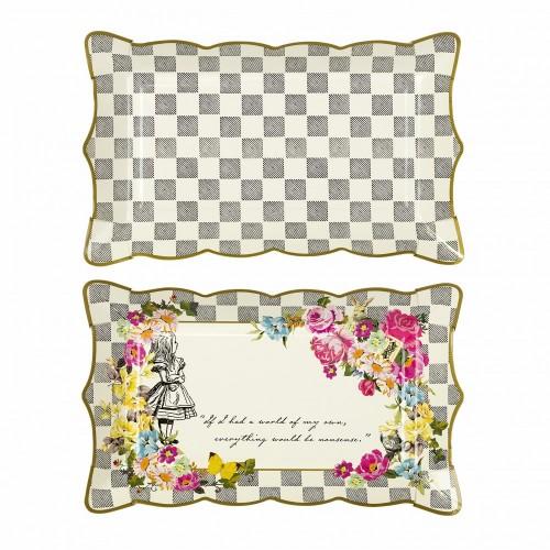 2 Vassoi di Carta Alice in Wonderland