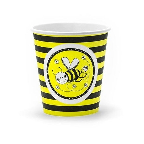 12 Bicchieri tema Bee Ape e fiori