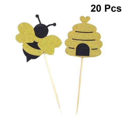 20 Cake Topper nido d'ape