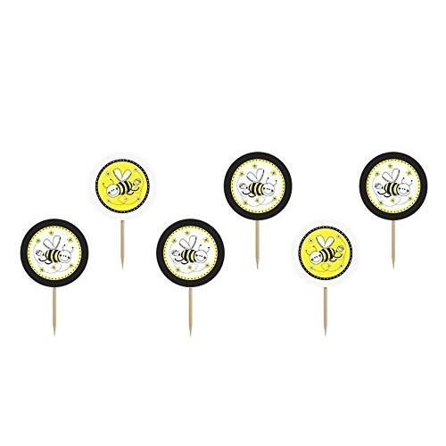 12 decorazioni per dolci tema ape