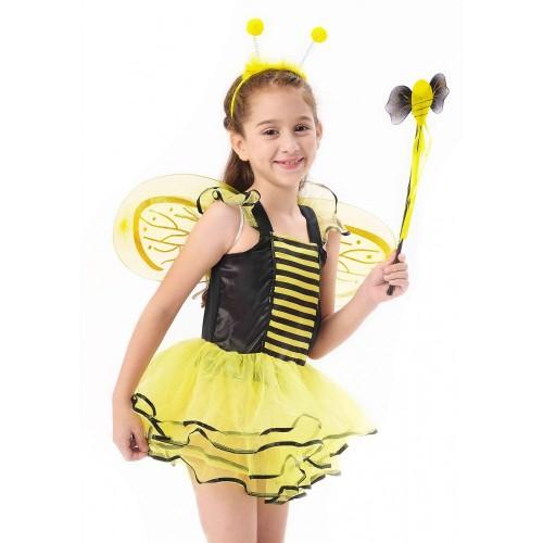 IKALI Costumi Ape Bambina, Ragazze Fantasia Vestire Vestito, Tutu Della Ballerina Leggiadramente Sottogonna per Travestimento