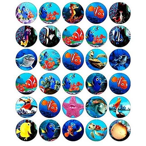24 decorazioni rotonde commestibili per cupcake con i personaggi di Aladdin