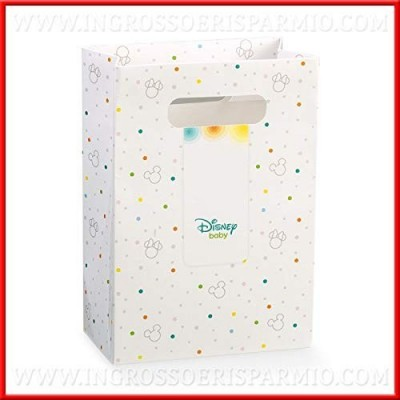 Ingrosso e Risparmio Statuetta Firmata Disney con Soggetto Topolino Celeste in Resina, bomboniere Battesimo, Cake Topper Comp