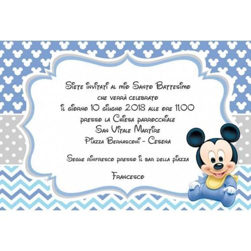 10 Inviti di compleanno Topolino Baby