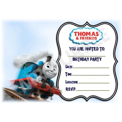 Inviti compleanno Trenino Thomas, confezione da 12
