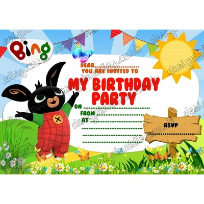 Inviti compleanno Bing
