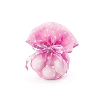 Sacchetti organza pois rosa