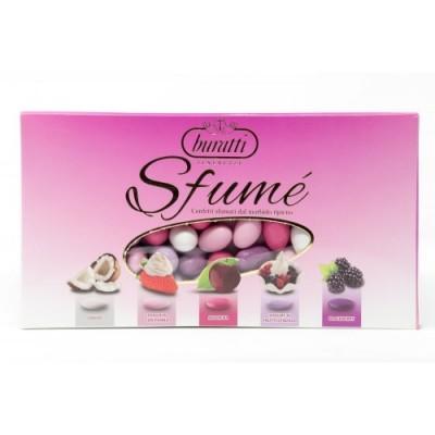 Buratti Confetti con Mandorle Tostate Ricoperte di Cioccolato, Bianco ai Molteplici Gusti, Tenerezze Sfumè Rosa - 1000 g