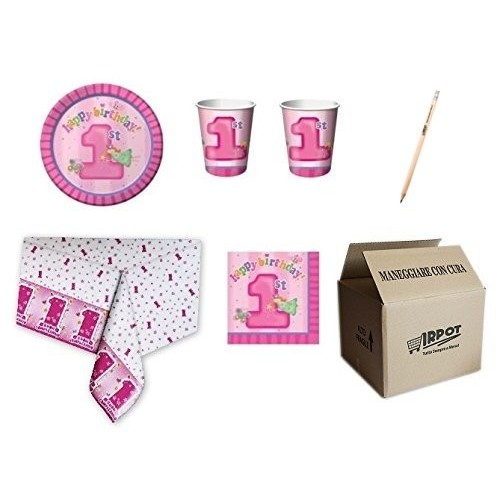 Kit per 32 persone tema Fun at One Girls
