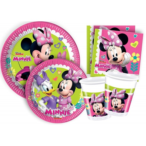 Kit compleanno Minnie 8 persone