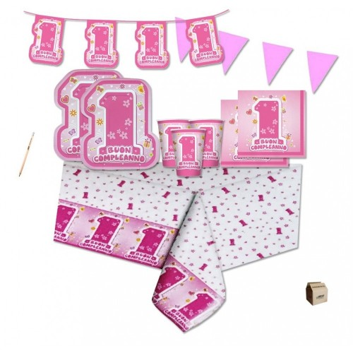 Kit per 40 persone One Pink primo compleanno