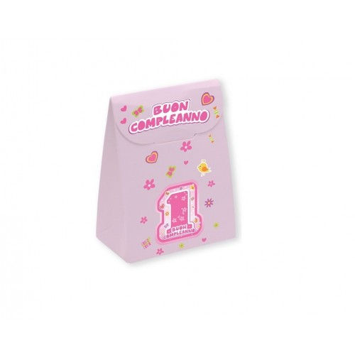 25 scatoline rosa 1° compleanno One Pink