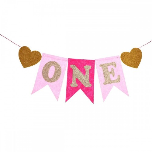 Festone One Pink - decorazione