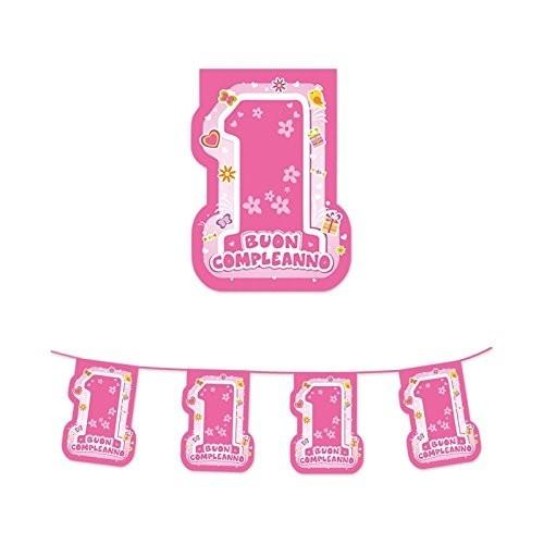 Festone rosa primo compleanno One Pink