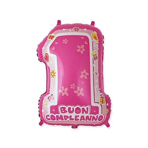 Palloncino Mylar One Pink numero 1