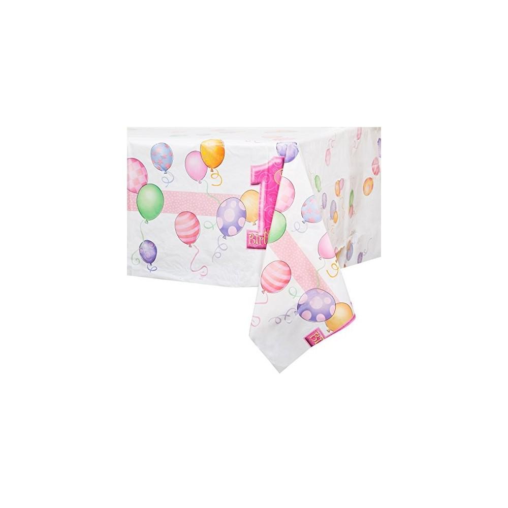 Tovaglia primo compleanno rosa