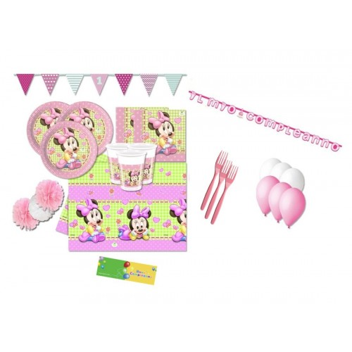 Kit compleanno Minnie 40 persone