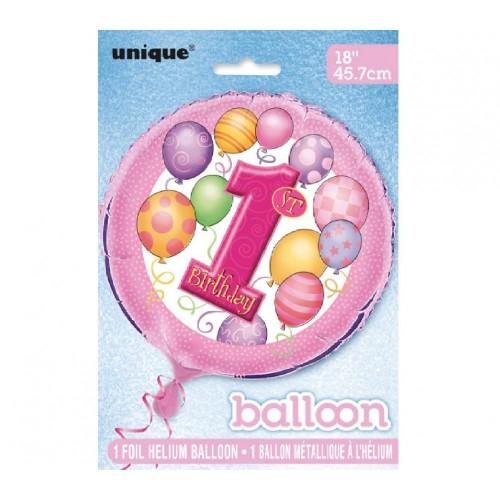 Unique Party 23901, Palloncini, Rosa/Multicolore