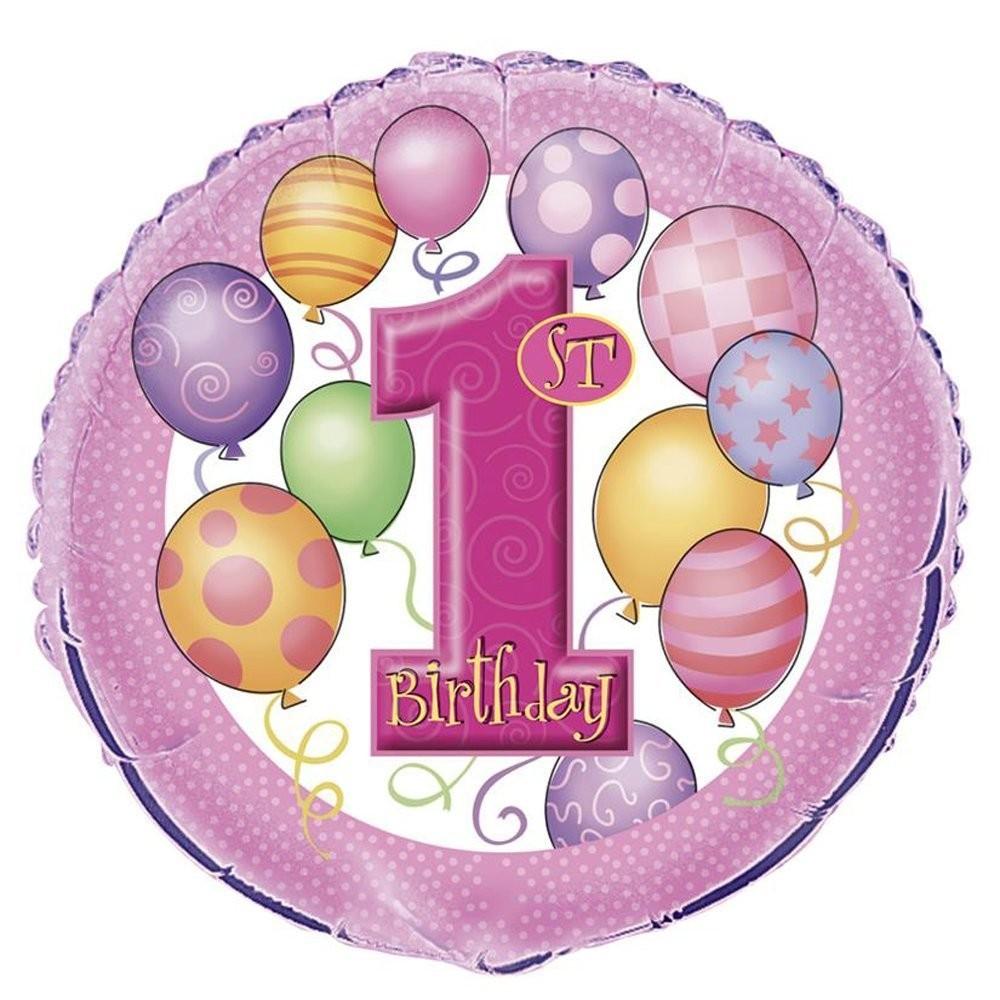 Foil primo compleanno rosa