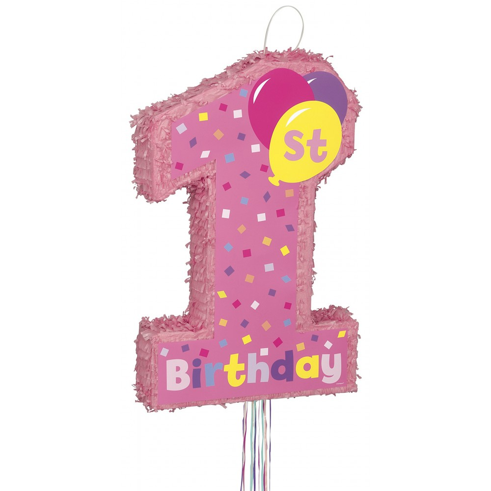 Pignatta 1° compleanno rosa