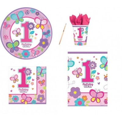 Kit per 32 persone tema Birthday girl rosa