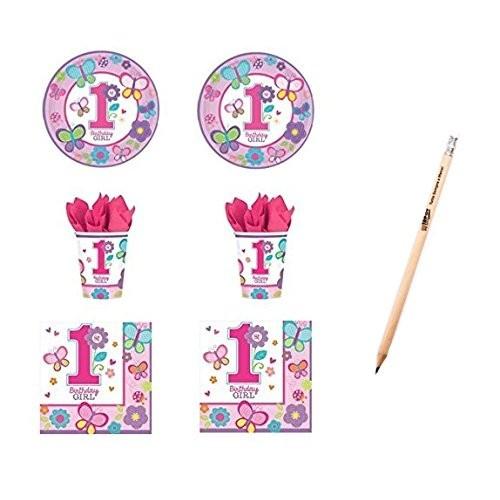 Kit per 16 persone Birthday girl primo compleanno