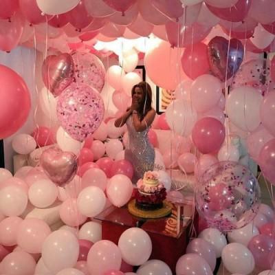 MMTX Decorazioni Feste di Compleanno, 51 Confezioni Per Con Striscioni di buon Compleanno, Palloncino Cuore Di Elio, 30pcs Pa