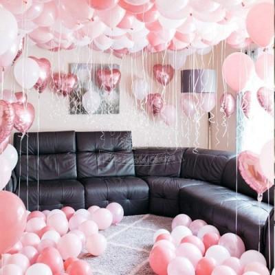Set con 30 decorazioni primo compleanno rosa