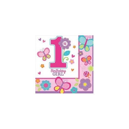 IRPot - KIT N 9 COORDINATO PRIMO COMPLEANNO 1 ANNO BIRTHDAY GIRL PIU INVITI
