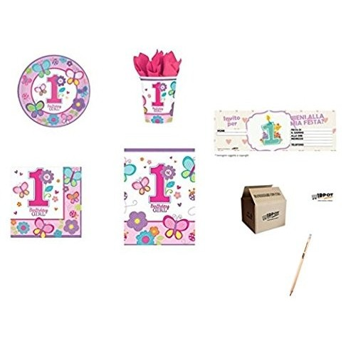 Kit per 24 persone Birthday girl rosa