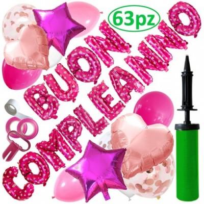 Scritta Buon compleanno di palloncini