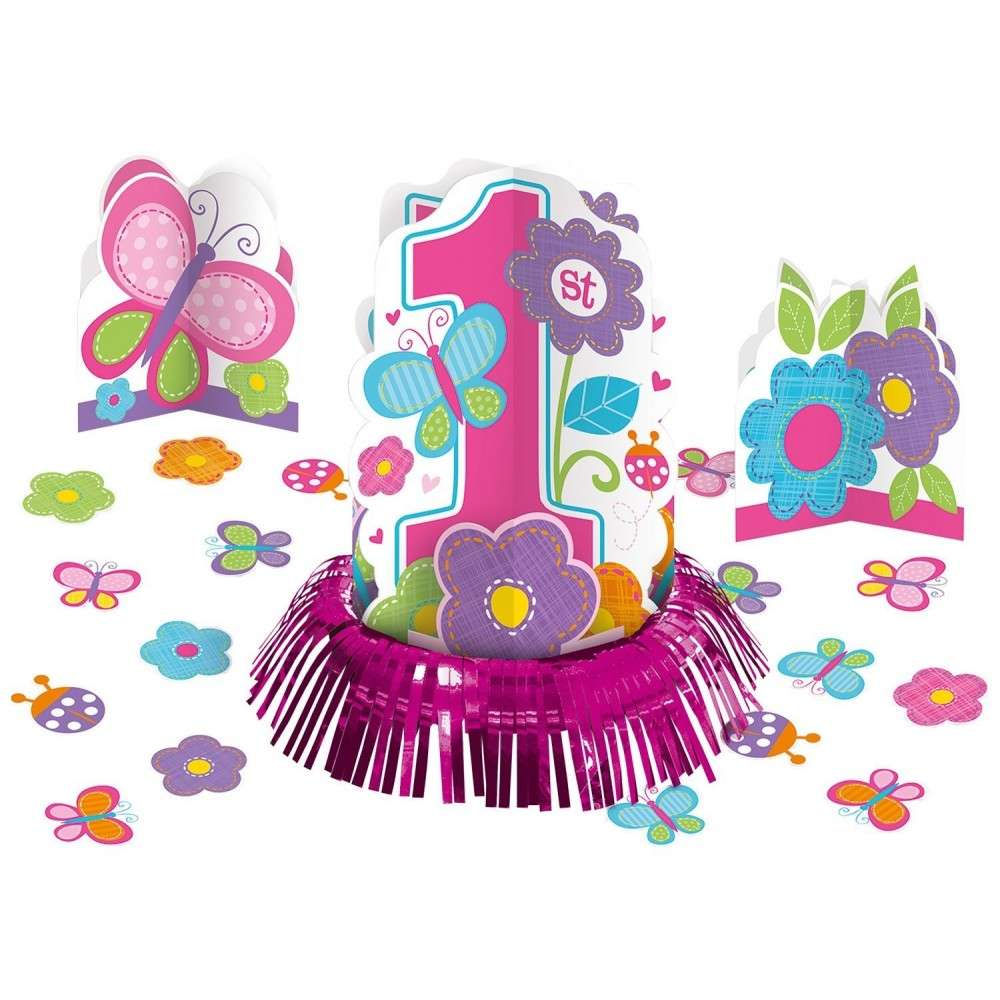 Centrotavola sweet table Birthday girl rosa 1° compleanno