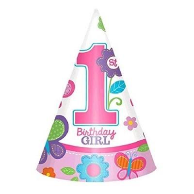 8 cappellini cono Birthday girl