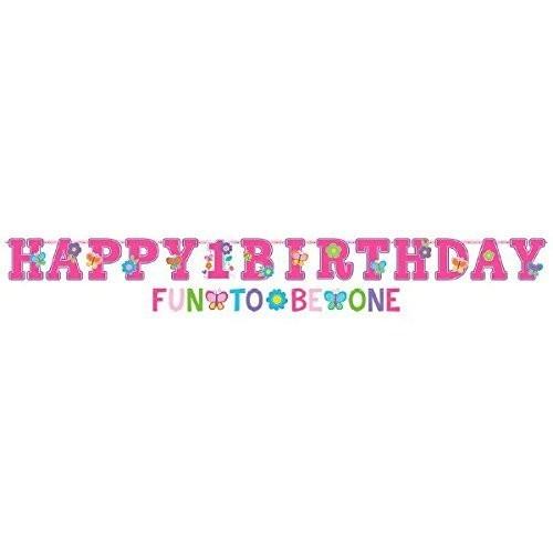 Ghirlanda festone Birthday girl rosa