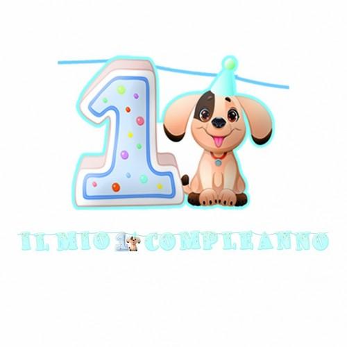 Festone maxi primo compleanno cagnolino Jimmy
