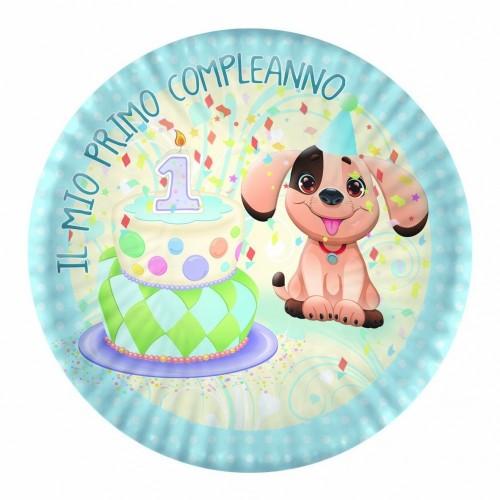 Piatti primo compleanno cagnolino Jimmy