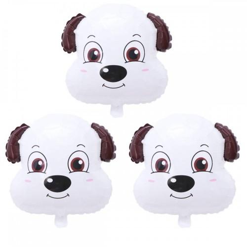 12 Palloncini a forma di testa di cane