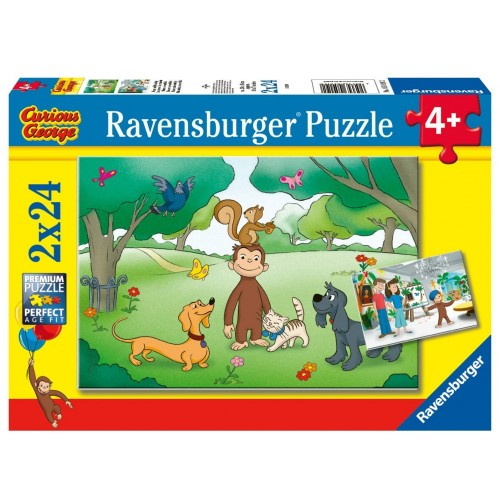 2 Puzzle Curioso come George - Ravensburger